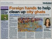 Horribly misquoted, but very grateful for the page three coverage in one of India's top national papers.